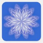 Pegatina abstracto azul del copo de nieve
