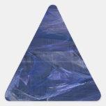 Pegatina abstracto azul del triángulo del fractal