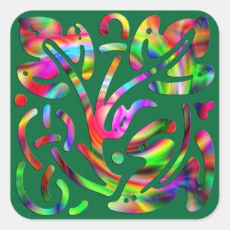 Pegatina abstracto colorido