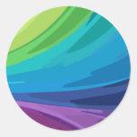 Pegatina abstracto colorido del chapoteo del arco