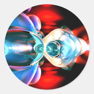 Pegatina abstracto de la implosión