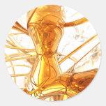 Pegatina abstracto de la miel