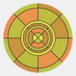 Pegatina abstracto del círculo