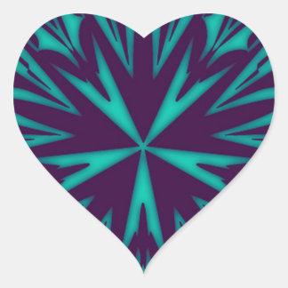 Pegatina abstracto del corazón del modelo