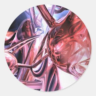 Pegatina abstracto electromágnetico