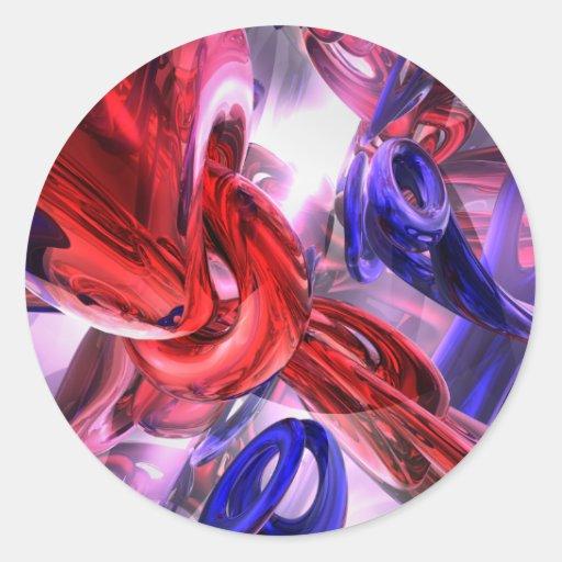 Pegatina abstracto soltado