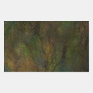 Pegatina abstracto verde del rectángulo del