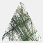 Pegatina abstracto verde del triángulo del fractal