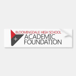 Pegatina académico de la fundación de Bloomingdale Pegatina Para Auto
