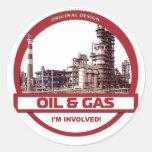 Pegatina - aceite y gas