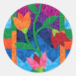Pegatina acolchado de las flores