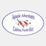 Pegatina acuático de las aventuras