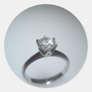 Pegatina adaptable de encargo del diamante del