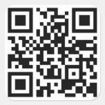 Pegatina adaptable del cuadrado del código de QR