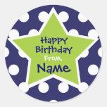 Pegatina adaptable del cumpleaños de la estrella