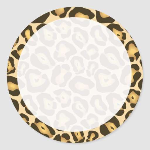 Pegatina adaptable del estampado leopardo