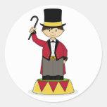 Pegatina adorable del director de pista de circo d