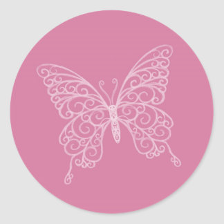 Pegatina afiligranado de la mariposa