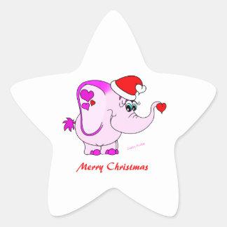 Pegatina afortunado de las Felices Navidad del