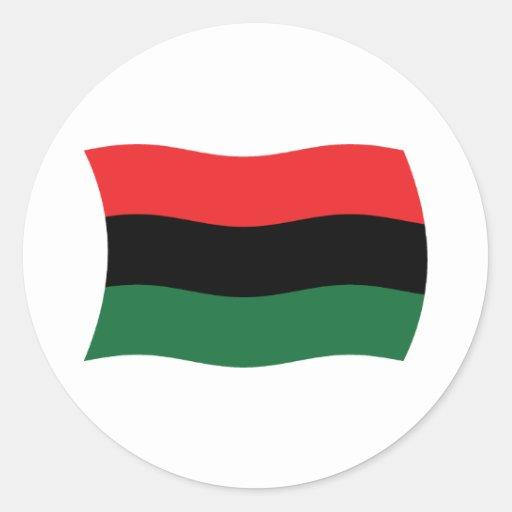Pegatina africano de la bandera de la cacerola