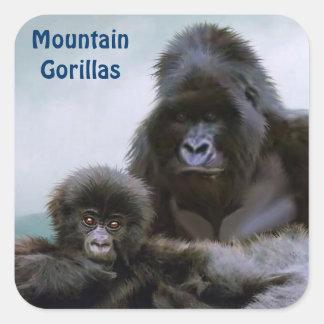 Pegatina africano de la fauna de los gorilas de