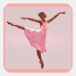 pegatina afroamericano de la bailarina
