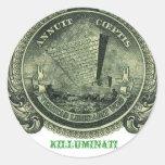 Pegatina al revés de la pirámide de Killuminati