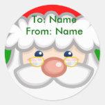 Pegatina alegre de Santa