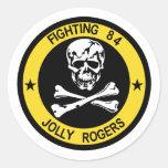 Pegatina alegre de VF-84 Rogers