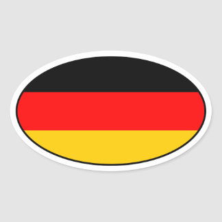 Pegatina alemán del óvalo de la bandera