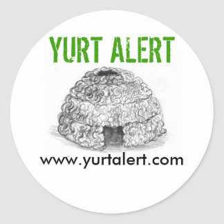 Pegatina alerta de Yurt