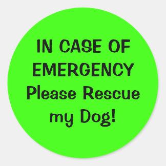 Pegatina alerta del mascota