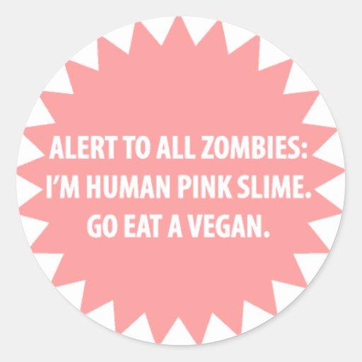 Pegatina alerta del zombi