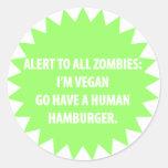 Pegatina alerta del zombi (para los veganos)