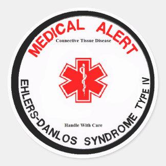 Pegatina alerta médico del EDS IV