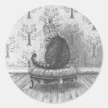 Pegatina Alicia del gato de Cheshire en pegatina