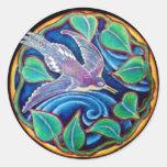 Pegatina altísimo de la mandala del pájaro