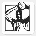pegatina alto derecho del jugador de básquet