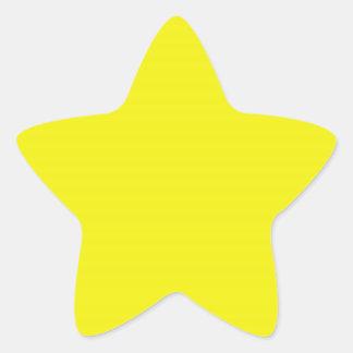 Pegatina amarillo brillante de la estrella