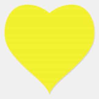 Pegatina amarillo brillante del corazón