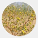 Pegatina amarillo de Bush de las flores