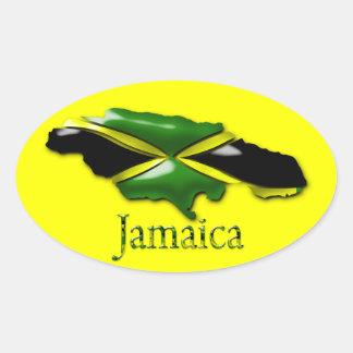 Pegatina amarillo de Jamaica
