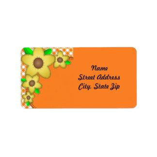 Pegatina amarillo de la dirección del fondo de la etiqueta de dirección