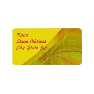 Pegatina amarillo de la dirección del fondo del etiquetas de dirección