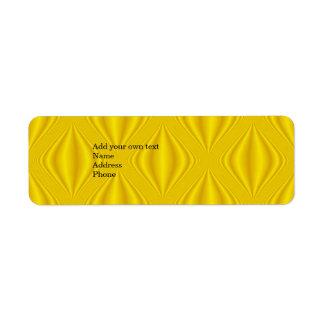 Pegatina amarillo de la dirección del regalo de la etiqueta de remite