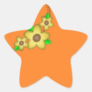 Pegatina amarillo de la estrella del fondo de la