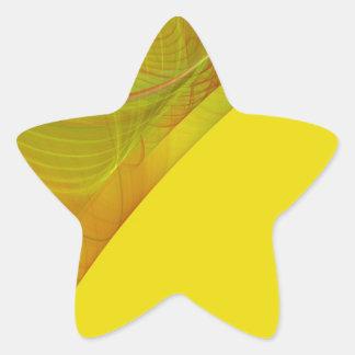 Pegatina amarillo de la estrella del fondo del