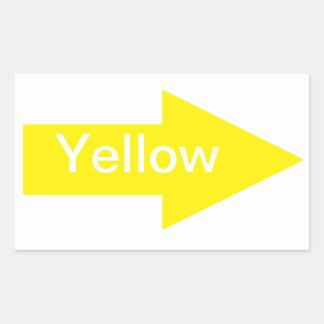Pegatina amarillo de la flecha