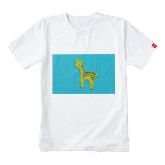 Pegatina amarillo de la jirafa playera zazzle HEART