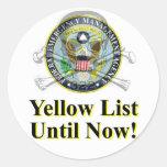 Pegatina amarillo de la lista